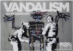 Banksy Beyond the Streets Vandalism Poster Mint Condition