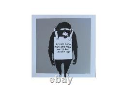 Banksy Laugh Now / Keep it Real double sided on Limited Edition Record COA #0783