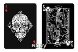 Bicycle Dia De Los Muertos Limited Edition Playing Cards Black Deck New