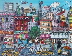 CHARLES FAZZINO-NY Pop Artist-Hand Signed Lim. Ed 3D Color Serigraph-Uptown NYC