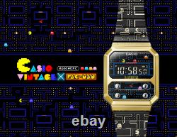 Casio Vintage x BANDAI PAC-MAN Limited A100WEPC-1B Collector Watch IN HAND