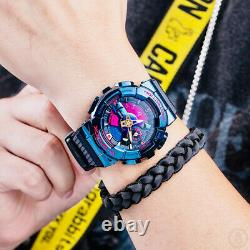 G-Shock City Nightscape Blue IP Rainbow Dial Limited Edition Watch GM-110SN-2A