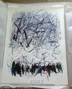 JOAN MITCHELL'Bedford III' 1981 SIGNED Lithograph Limited Edition Print Framed