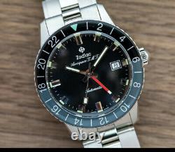LIMITED EDITION Zodiac Super Sea Wolf GMT Aerospace (182 made) Box, Papers, New