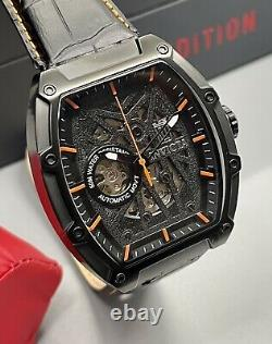 Limited Ed Invicta 46mm Jason Taylor SS Skeleton Dial Black Case Sports Watch