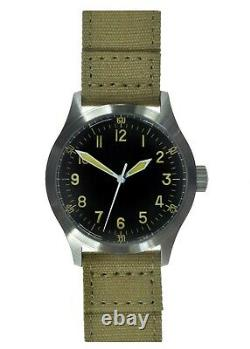 MWC A-11 1940's WWII Pattern 24 Jewels Automatic USAAF Watch 100m WithR