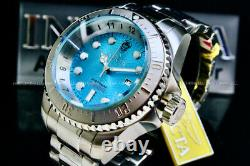 NEW Invicta Hydromax OCEAN VOYAGE LIMITED EDITION Wavy Blue Dial Stainless Watch