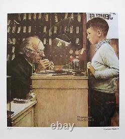 NORMAN ROCKWELL THE WATCHMAKER 1978 Signed Limited Edition Lithograph Art