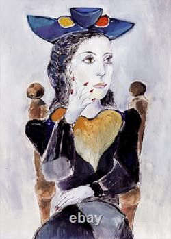 Pablo Picasso DORA MAAR Estate Signed Limited Edition Art Giclee 22 x 13
