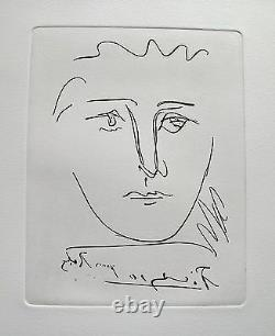 Pablo Picasso POUR ROBY Restrike Etching Signed in the Plate Mint Condition
