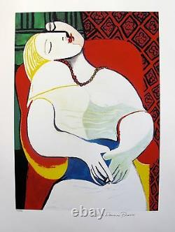 Pablo Picasso THE DREAM Estate Signed Limited Edition Art Giclee 26 x 20