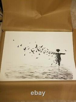 Pejac Scattercrow- Hand Pulled Stone Lithograph Art Print Edition of 80