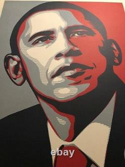 Rare Obama Hope Print by Shepard Fairey 24 X 36 2008 Signed Thick Paper