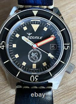 Rare! Sold Out Ltd Ed #138/500 Squale Drass Galeazzi Automatic Swiss Dive Watch