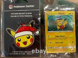 SEALED Special Delivery Pikachu Promo & Pikachu Holiday Ornament