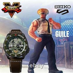 SEIKO 5 Sports Street Fighter V GUILE Green Dial Limited Edition Watch SRPF21K1