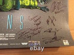 SIGNED by Cast Aliens Variant Print Bill Paxton Sigourney Weaver Limited COA Pic