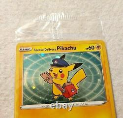 Special Delivery Pikachu Pokemon Center Promo Card Swsh074 Sealed (1210p)