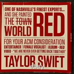 Taylor Swift Red 2 LP PROMO COLORED VINYL MEGA RARE with PAPER OUTER WRAP ACM