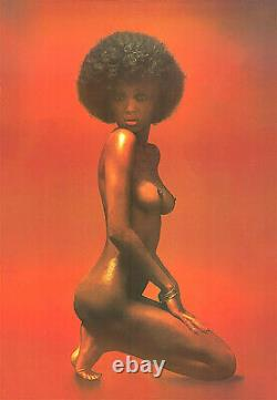 The Shining Nude Black Woman Afro Two Posters -17x22 Fine Art Prints(x2)-00277